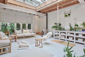 ancien garage transformé en loft à Amsterdam